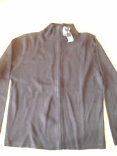 Men's Size Large Black Knitted Cotton Zip Fronted Top BNWT