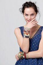 Free People Ribbon Crystal Cuff Bracelet Arm Candy Anthropologie New