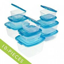 Mr. Lid 10 Piece Attached Lid Plastic Container Set As Seen On T.V., New