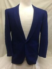 Versace V2 Men's Cobalt Blue Dinner Jacket Blazer Coat Size 48 S (EU) 38 S (US)