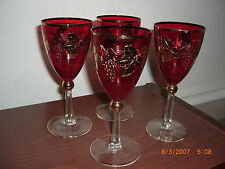 VERY RARE SET OF 4 ARCADIA CRYSTAL EXPORT/IMPORT WINE GLASSES ARE16