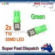 LED 2x T10 Green 5SMD 5050 for Car Side Lights Parker Bulbs Lamps DC 12V