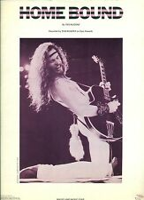 """TED NUGENT """"HOME BOUND"""" PIANO/GUITAR CHORDS SHEET MUSIC OUT OF PRINT 1977 RARE!"""