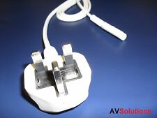 Mains Power Cable for Bang & Olufsen B&O (2 Metres, White)