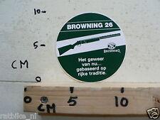 STICKER,DECAL GUNS GEWEREN BROWNING 26 HET GEWEER VAN NU GEBASEERD OP RIJKE TRAD