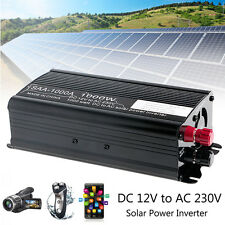 2000W Peak Solar Power Inverter 12V DC To 230V AC Modified Sine Wave Converter