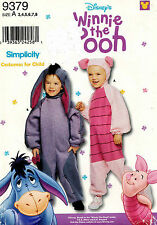 Simplicity Disney's Child's Eeyore and Piglet Costume Pattern 9379  3-8 UNCUT