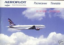 Airline Timetable - Aeroflot - 31/10/99 - Network style Ed - B777 VP-BAS cover