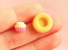 8mm Mini Cupcake Base Mold for Polymer Clay - Food Safe Flexible Silicone