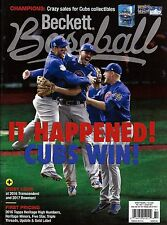 New Beckett Baseball Magazine January 2017 Cubs Win World Series Champs No Label