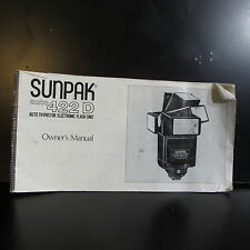 Used Sunpak Auto 422D Flash  Owners Manual Guide O401619