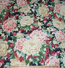 """Imperial Oriental Floral Fabric 24"""" Remnant 100% Cotton Kaufman metallic gold"""