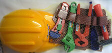 Toy Tool Belt Set with Hard Hat Helmet (5 Tools) Great for Play or Fancy Dress