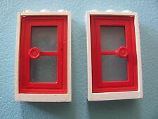 LEGO 3579 + 7930 @@ Door 1 x 3 x 4 @@ WHITE / RED @@ BLANC / ROUGE