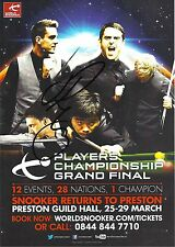 Snooker Players Championship Grand Final Flyer. Signed by Joe Perry.