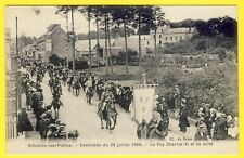 cpa Vue Rare 50 - VILLEDIEU les POËLES Fête Défilé Grande CAVALCADE de 1906