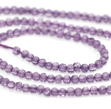 HALF STRAND NATURAL PINK AMETHYST SMOOTH ROUND BEADS, 4 MM, GEMSTONE