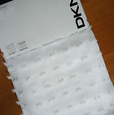 DKNY City Dot WHITE Sheer (2) WINDOW PANELS CURTAINS drapes 50x84 Rod Pocket NEW