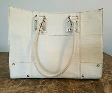WILSON'S  WHITE LEATHER LAPTOP SOFT SIDE BRIEFCASE TOTE BAG