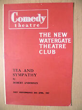 Comedy Theatre Programme 1957- Watergate's TEA AND SYMPATHY~R Anderson~E Sellars
