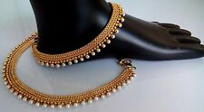 INDIAN/ PAKISTANI Bridal Gold & Pearl 1 Anklets, Payal, Noopur, Pajeb, Jewellery