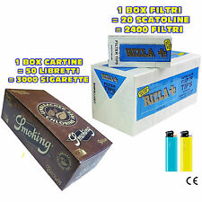 CARTINE SMOKING BROWN CORTE 1 box + FILTRI RIZLA ULTRA SLIM 1 box