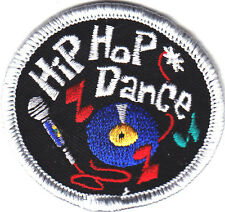 """HIP HOP DANCE"" w/MUSIC NOTES & MICROPHONE - Iron On Embroidered Patch/Dance"