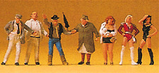 HO scale Preiser Wild Night Street People with Ladies of the Night (7) FIGURES