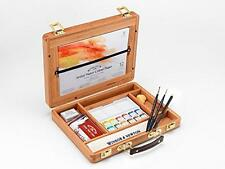 Winsor & Newton Artists colore ad acqua Half Pan Bamboo Box Set Arte Pittura
