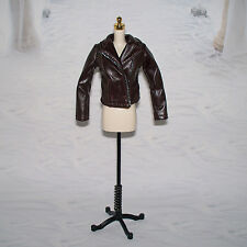 Mattel DARK BROWN Leather Look BIKER JACKET For Barbie Doll