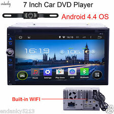 "7"" GPS Navi Android4.4 Double 2DIN Car Stereo DVD Player WIFI 3G Bluetooth Radio"
