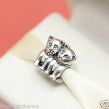 * New Authentic Pandora Purrfect Together 791119 Cat Kitten Charm