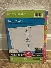 Kathy Davis 2017 Planner Refill 2 Page Per Week Day Timer Floral Daily Size 4