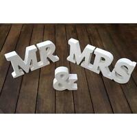 NEW WEDDING GIFT WHITE WOOD MR & MRS LETTERS MR & MRS SIGN MR AND MRS LETTERS JJ