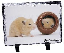Hamsters in Pot Soulmates' Photo Slate Christmas Gift Ornament, SOUL-87SL