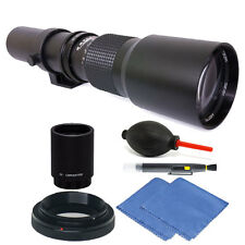 Vivitar 500mm/1000mm f/8 Telephoto Lens for Canon EOS 80D 70D 60D + 2X Conv