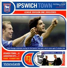 IPSWICH TOWN 2002-03 Leicester (Pablo Counago) Football Stamp Victory Card #203