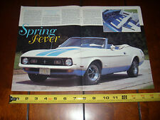 1972 FORD MUSTANG SPRINT CONVERTIBLE - ORIGINAL 1995 ARTICLE