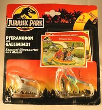 Vintage Jurassic Park 1993 Pteranodon and Gallimimus 2 piece set with cards