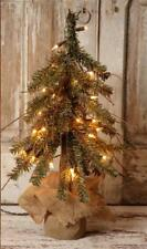 "PRIMITIVE ALPINE 18"" RUSTIC TWIG COUNTRY CHRISTMAS TREE With 30 LIGHTS & 83 TIPS"