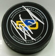 NAIL YAKUPOV SIGNED ST LOUIS BLUES 50TH ANNIVERSARY GAME PUCK 1007773