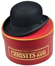 CHRISTYS LONDON CH26 OLD FASHION DERBY FUR FELT BOWLER HAT 7 5/8 61CM ENGLAND