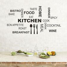 Kitchen Rules Quote Wandaufkleber Wohnzimmer Dekor Wandtattoo Wandsticker DIY