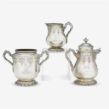 An American sterling silver part tea service, Gorham Mfg. Co., retail... Lot 308