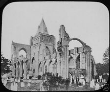 Glass Magic Lantern Slide CROYLAND ABBEY C1910 PHOTO LEICESTERSHIRE CROWLAND