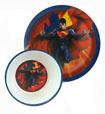 SUPERMAN Kids Boys 2-pieces Dining Set Plate and Bowl NWT
