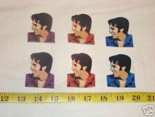 6 pc Elvis Sillouttes Fabric Applique Iron On Ons