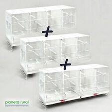 3 Jaulas de Cría para Pájaros Metro Pedros Blanca