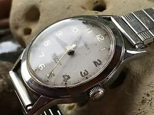 Benrus Military Style Early Sixties Runs Great Weathered Charm Men Vintage Watch