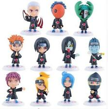 11Pcs/Set 8cm Naruto Shippuden anime Akatsuki Member figures set pvc doll